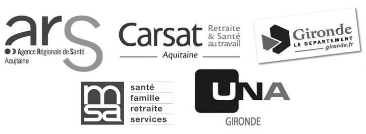 Conseil départemental, ARS, CARSAT, CPAM, AGIRC-ARRCO, Caisse des dépôts, AG2R La mondiale, MGEN, RSI, UNADEV, MSA