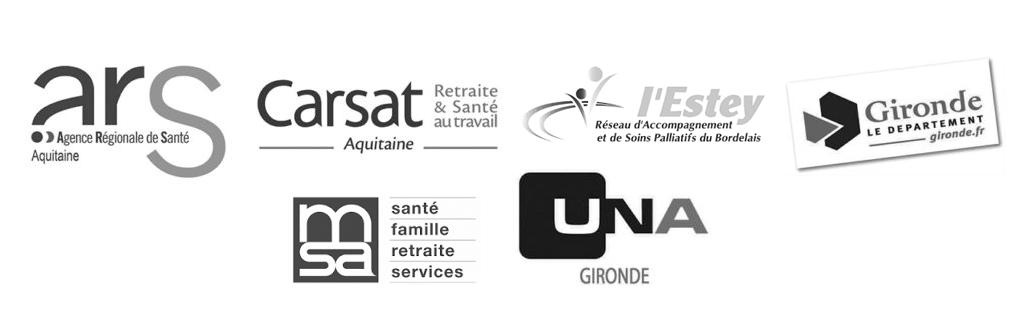 Conseil départemental, ARS, CARSAT, CPAM, AGIRC-ARRCO, Caisse des dépôts, AG2R La mondiale, MGEN, RSI, UNADEV, MSA, L'ESTEY